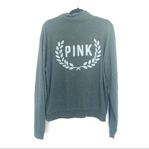 Victoria's Secret PINK Green 3/4 Zip Pullover L